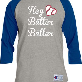Hey Batter Batter Baseball Heart Women's T-Shirt