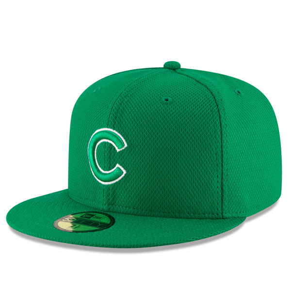 buy popular 5c5c6 49206 Chicago Cubs New Era Green St. Patrick's Day Diamond Era 59FIFTY Fitted  Baseball Hat