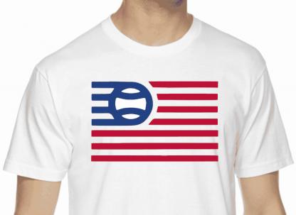 Baseball Flag T-shirt