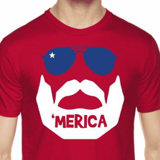 Beards and 'Merica T-Shirt