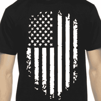 Tattered American Flag T-Shirt